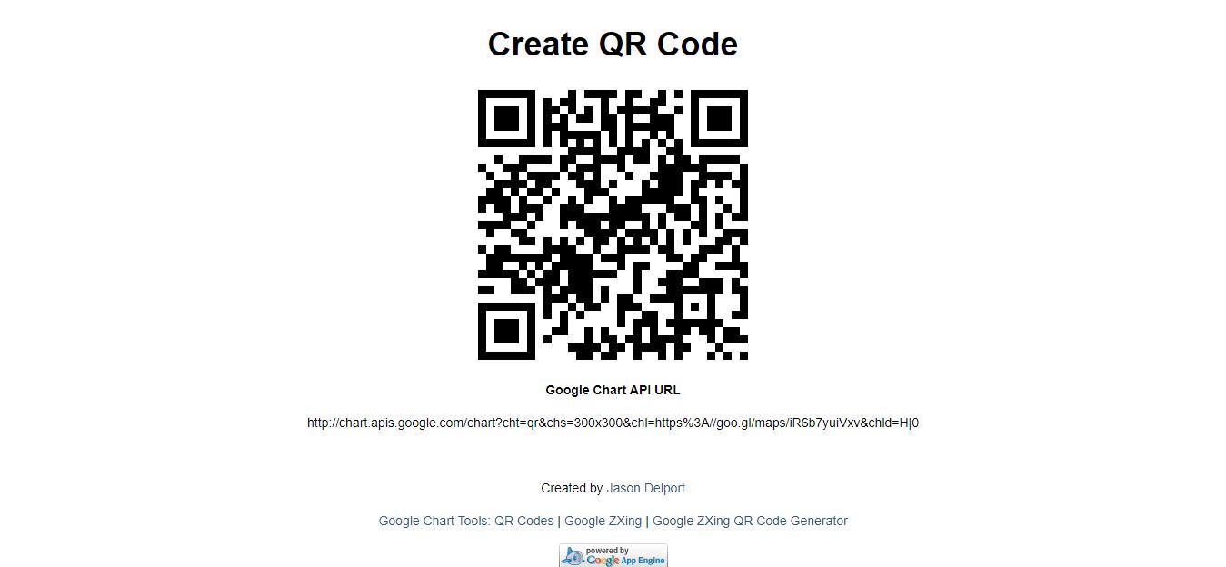GOOGLE CHARTS API FOR QR CODE GENERATOR - How To Create
