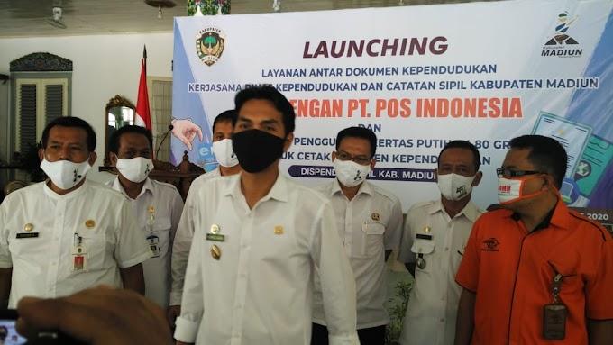 Launching Layanan Antar Dokumen Dukcapil Kabupaten Madiun Dengan PT. Pos Indonesia