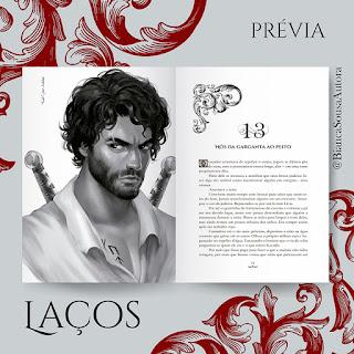 Imagem ilustrativa das páginas do livro Laços de Bianca Sousa