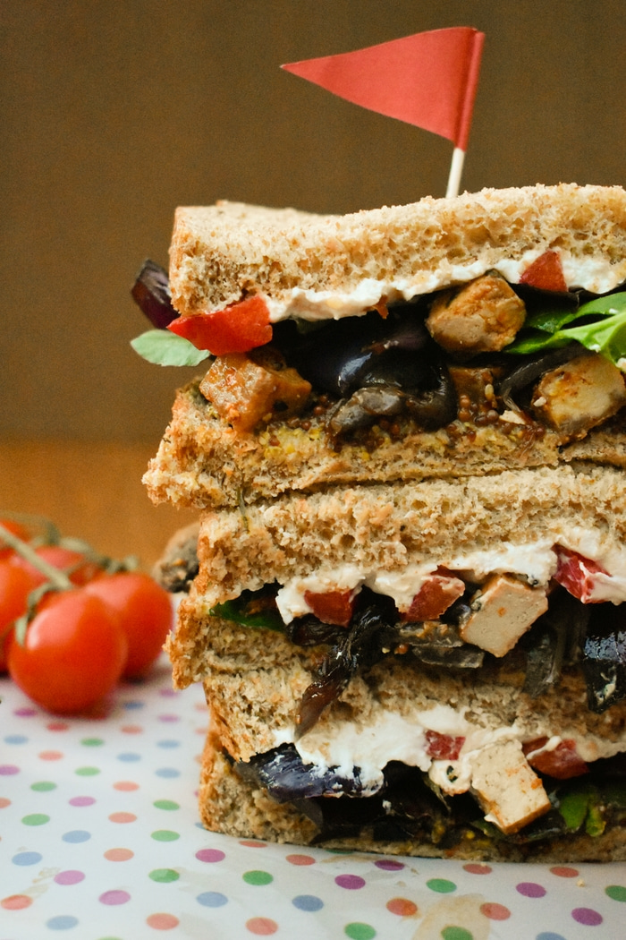 Roasted Vegetable and Tofu Sandwiches