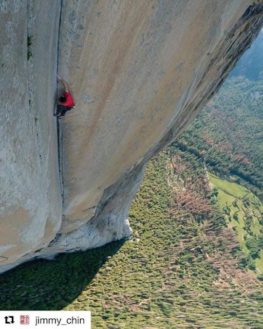 Escalador trepa casi 1 km de piedra de El Capitán sin nada