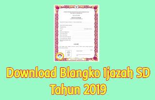 download blangko ijazah sd tahun 2020