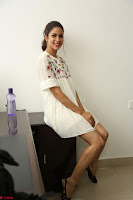 Lavanya Tripathi in Summer Style Spicy Short White Dress at her Interview  Exclusive 151.JPG