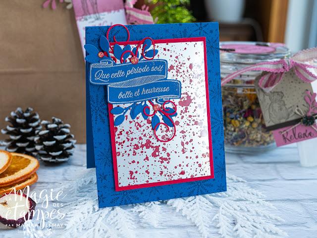 cartes de Noël avec le papier acétate verre mercuré Stampin' Up!