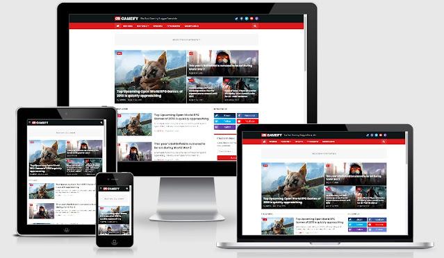 Gameify - Blog & Magazine Gaming Blogger Template
