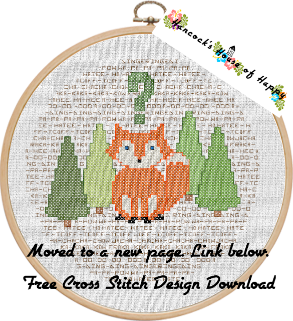 free fox cross stitch design to download