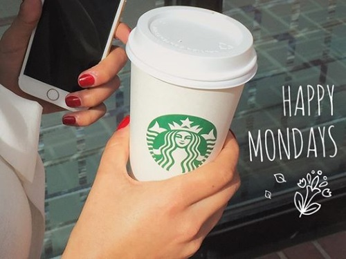 Starbucks Happy Monday Mobile Order & Pay 3 Bonus Stars