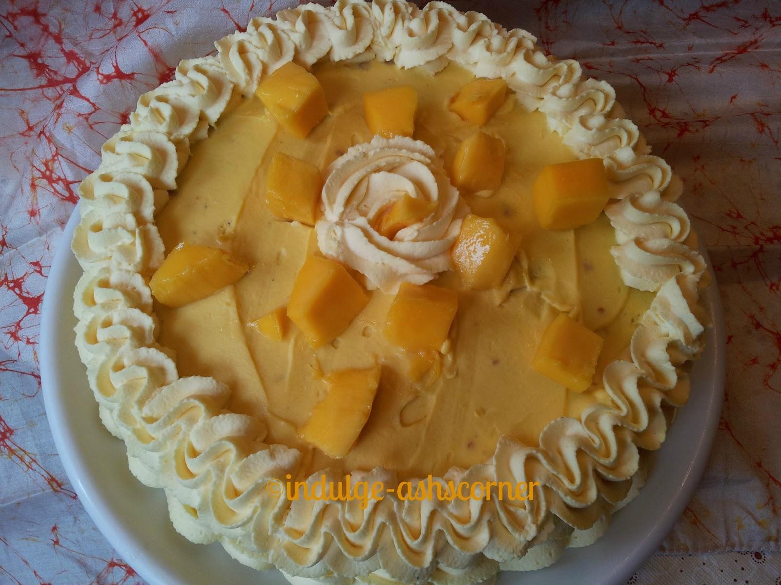 Cake Icing Recipes In Marathi: IndulgeAshscorner: Mango Cake With Mango White Choc Frosting