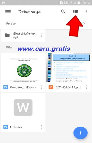 Pengaturan Google Drive