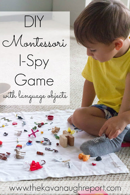 DIY Montessori I-Spy Game with Language Objects