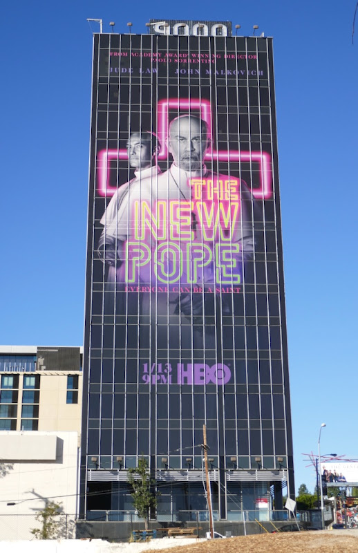 New Pope giant series launch billboard