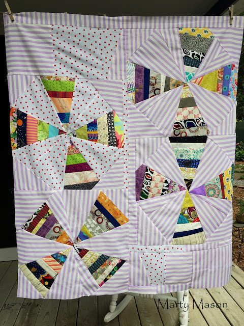 improv quilt scrappy triangles by marty mason