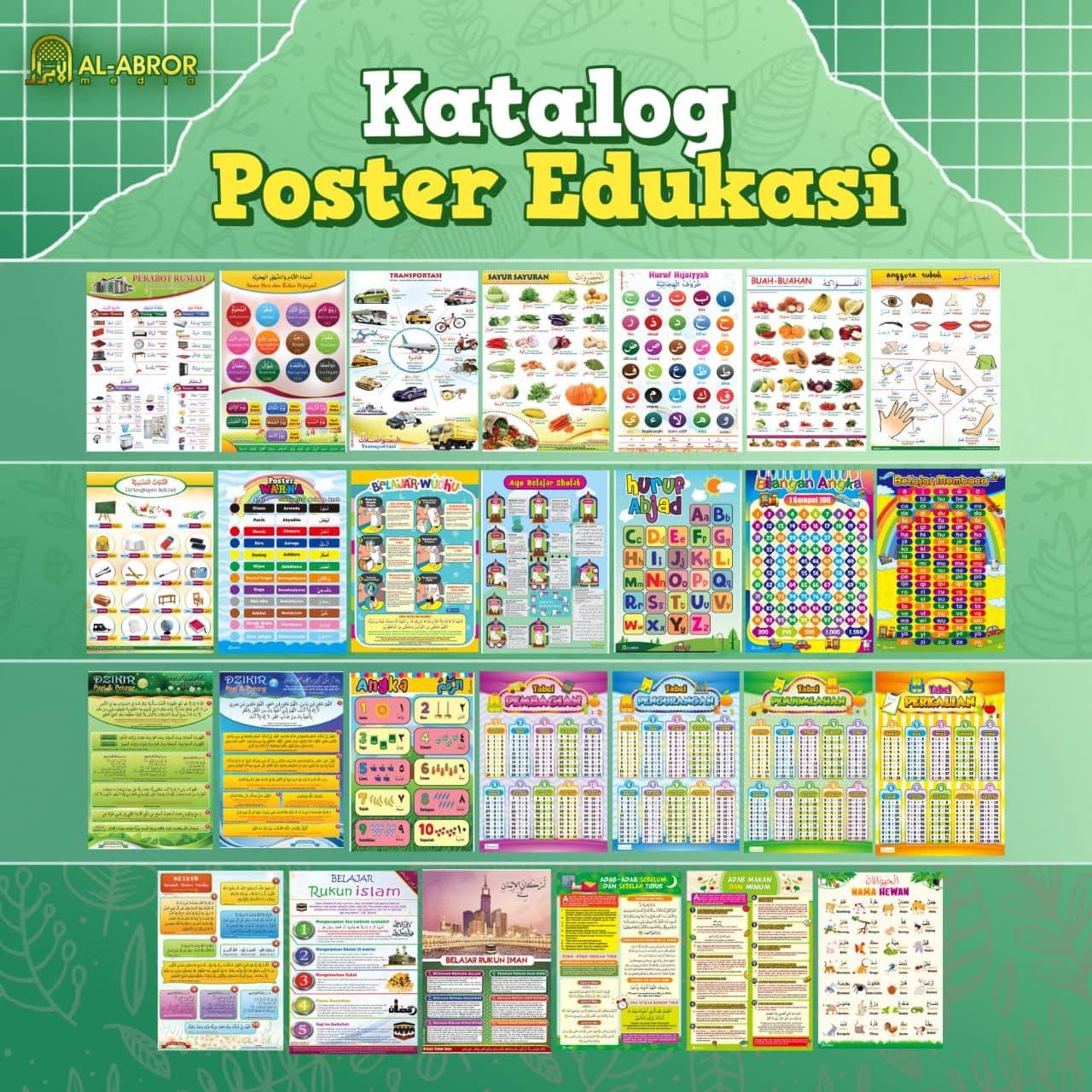 Poster Edukatif Anak Islam / Poster Mufradat Al Abror Media