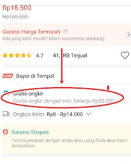tips untuk dapat gratis ongkir di shopee