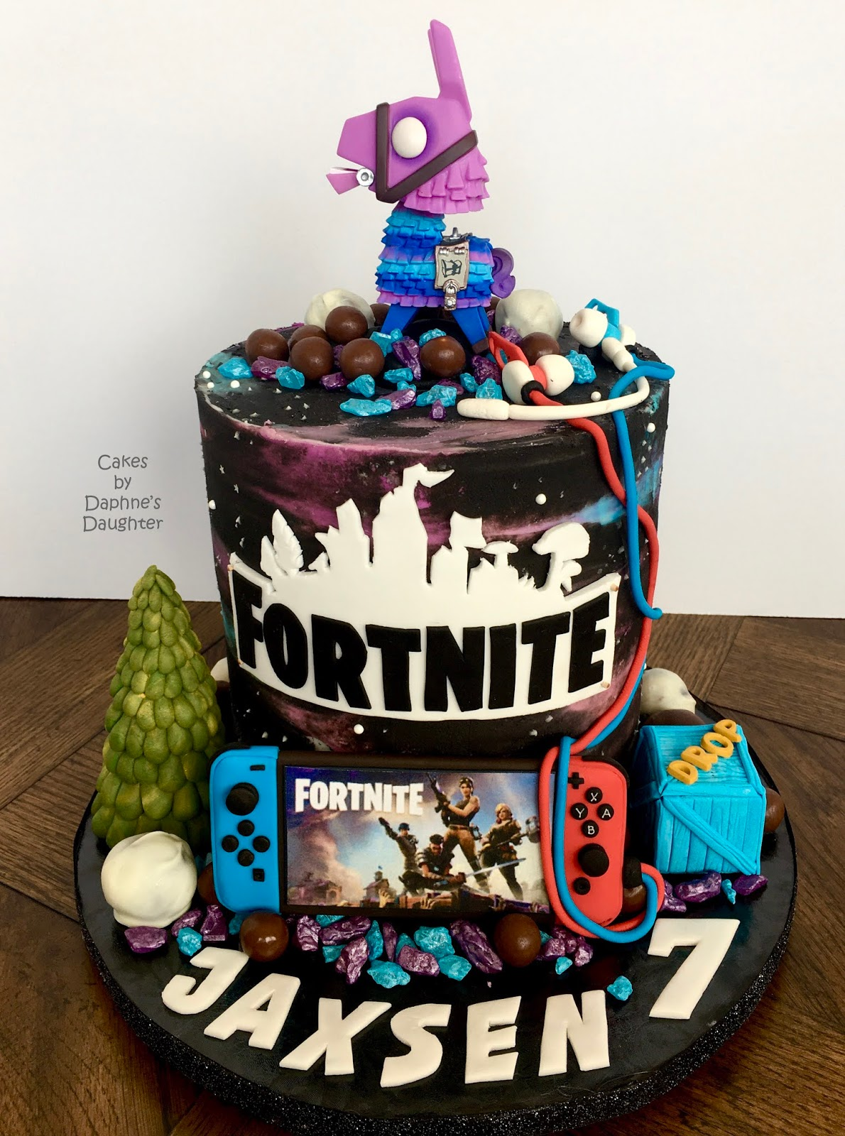 The Bake More Galaxy Fortnite Cake With Loot Llama And Switch Controller It's fortnite's third birthday, and the game has changed pretty drastically from its first birthday celebration. galaxy fortnite cake with loot llama