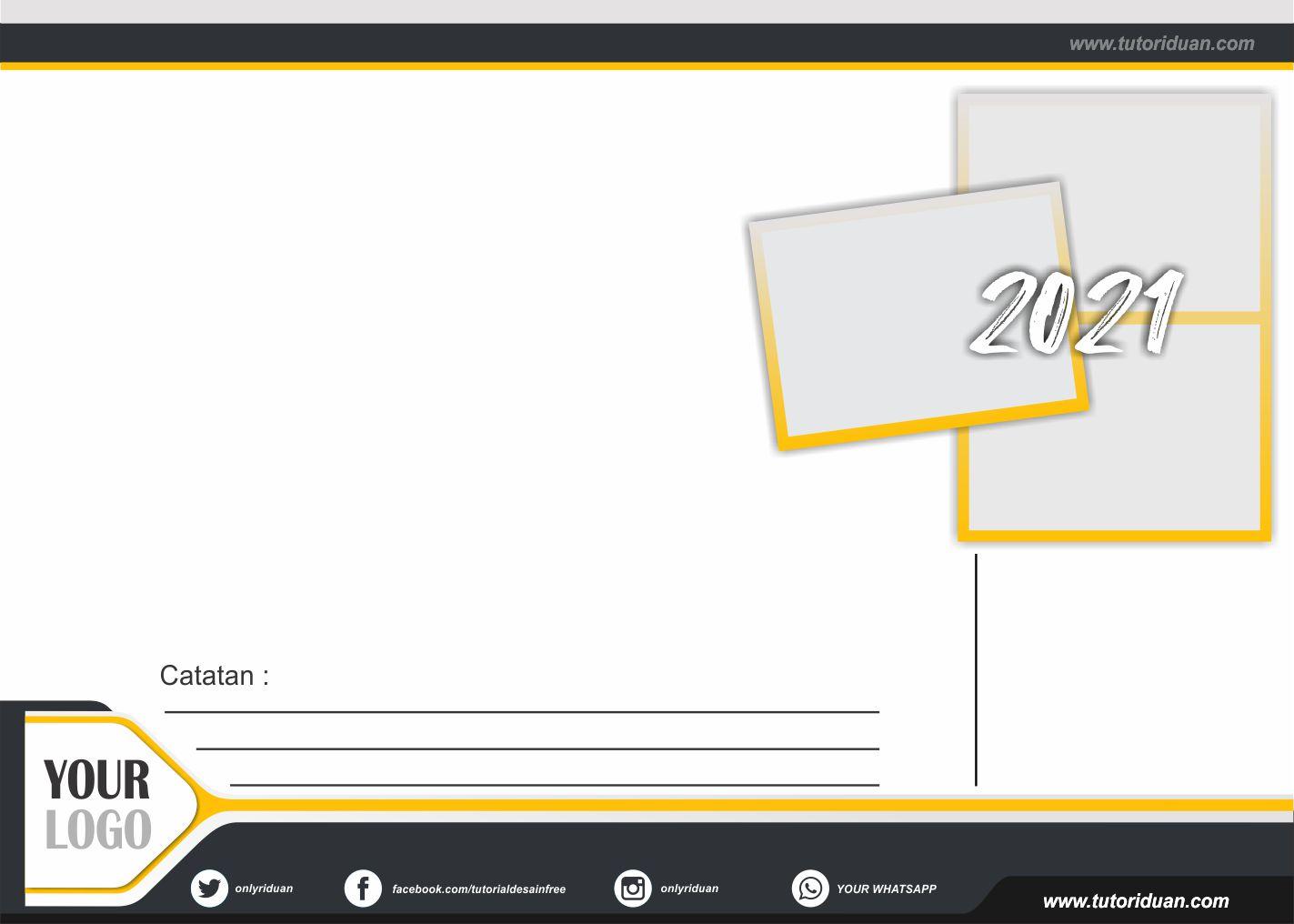 Desain Kalender Duduk 2021 dengan CorelDraw (Free CDR)