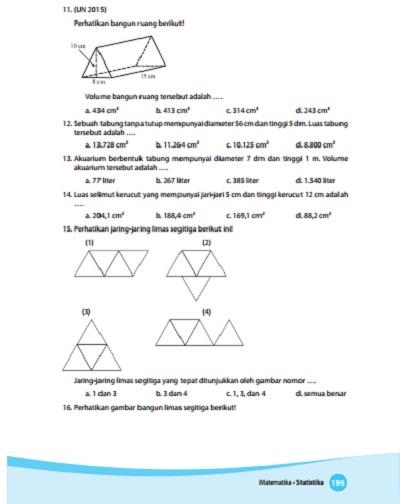 kunci jawaban buku matematika kelas 6