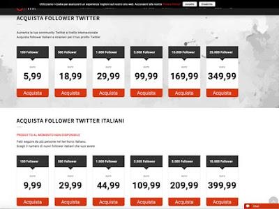 Secondo sito dove acquistare follower su Twitter
