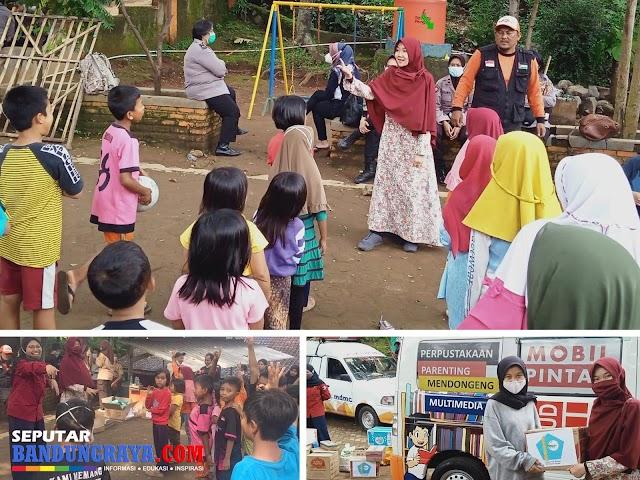 Tim ECO Bambu Cipaku, MOPI PAUD Institute, dan LPDP UPI Berbagi Kebahagiaan pada Anak-Anak Korban Longsor Cimanggung