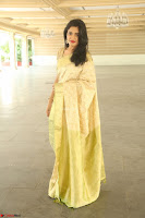 Harshitha looks stunning in Cream Sareei at silk india expo launch at imperial gardens Hyderabad ~  Exclusive Celebrities Galleries 015.JPG