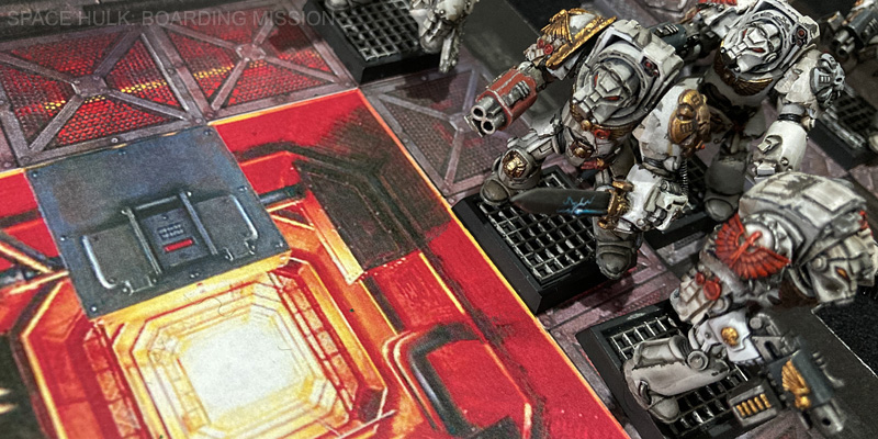 Space Hulk Gantry Room rules and board piece