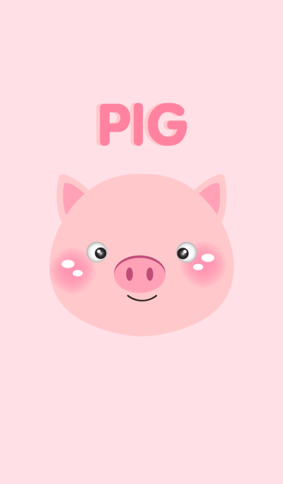 Simple Pink Cute Pig theme v.3