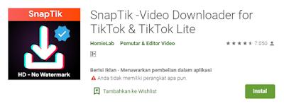SnapTik - Video Downloader for Tiktok & Tiktok Lite