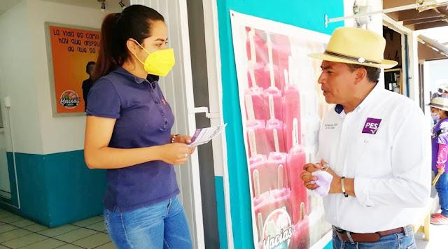 Obras y mil cámaras de seguridad propuso Damián Momox a habitantes de Tepontla