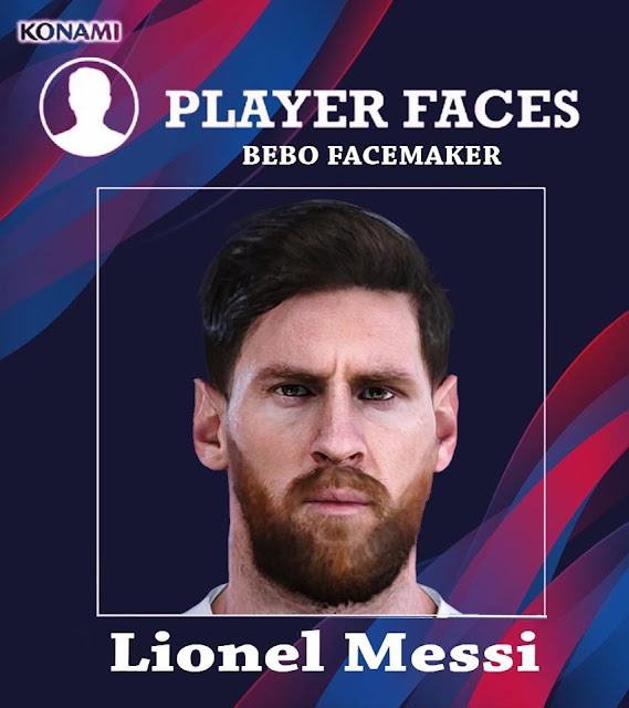 PES 2020 Messi Face by Bebo Facemaker
