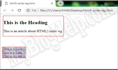 ASIDE-TAG-HTML5-EXAMPLE