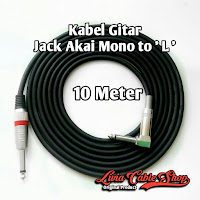 Kabel Gitar Jack Akai Mono To Akai Mono ' L ' 10 Meter
