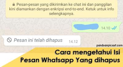 Cara baca pesan whatsapp yang dihapus