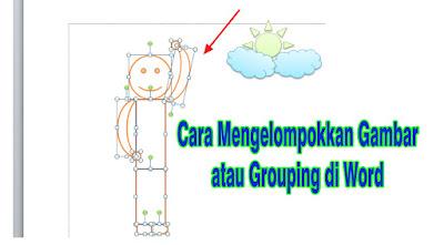 Mengelompokkan Gambar atau Grouping
