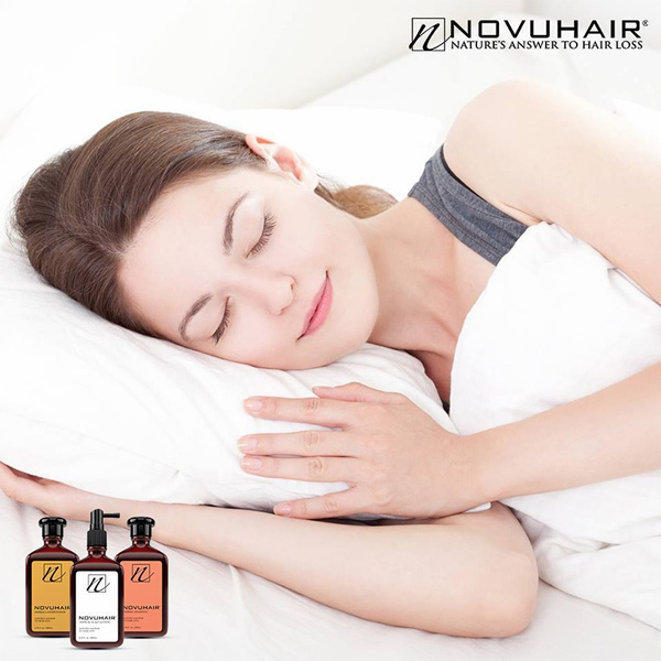 sleep to combat hair loss - de-stress your hair - Novuhair