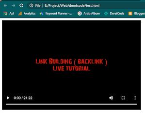 Memutar video di html