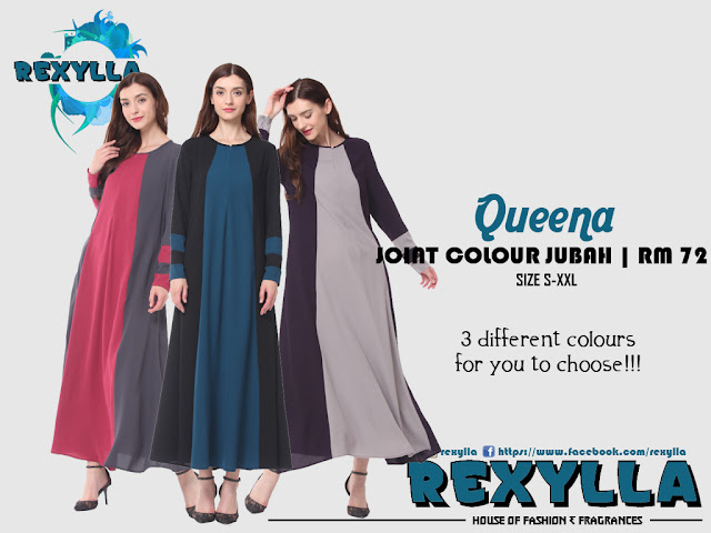 rexylla, joint colour, joint colour jubah, queena collection