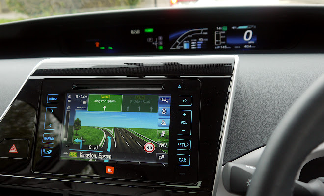 Toyota Mirai central touchscreen