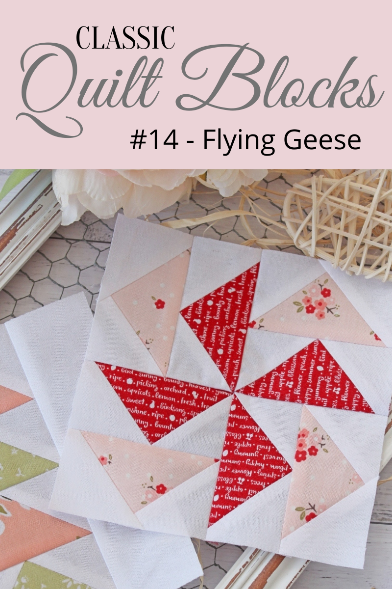 {Classic Quilt Blocks} Flying Geese - A Modern Flying Geese Mini Quilt!
