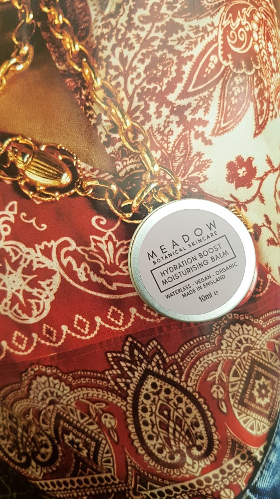 The Natural Beauty Box Review - Meadow Skincare Hydration Boost Moisturising Face Balm