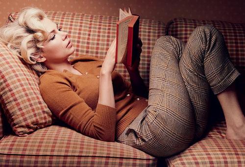 libros, mujeres que leen, vintage