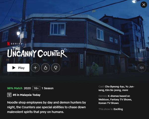 Popular Drama on Netflix The Uncanny Counter