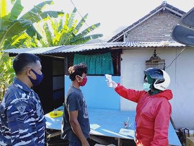 Posmat TNI AL Benete Bantu Pemda Cegah Penyebaran Covid-19