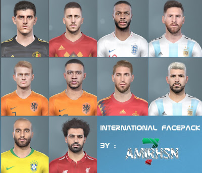 PES 2019 Facepack International by Amir.Hsn7