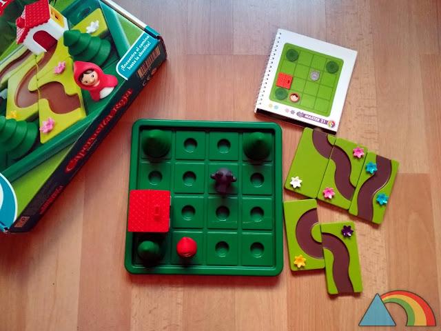 Preparación de una partida del juego Caperucita Roja Deluxe de Smart Games