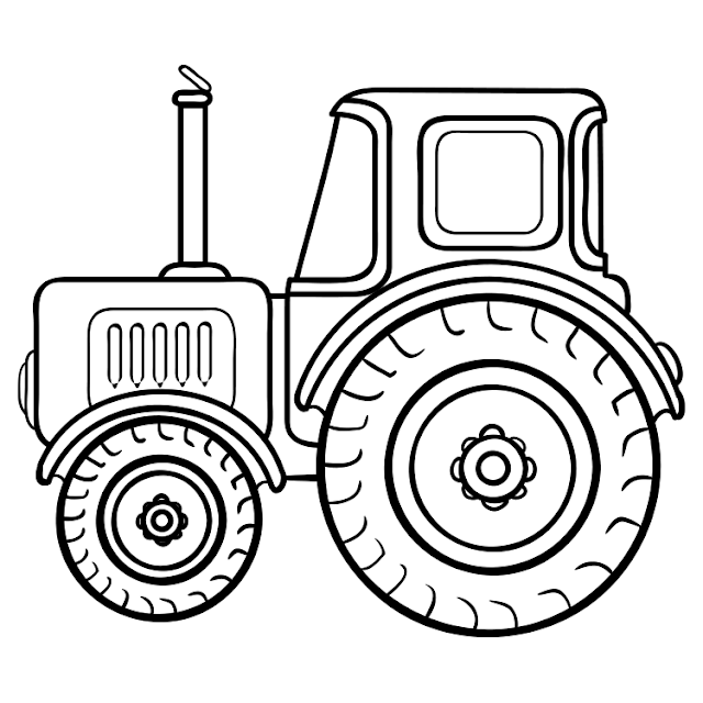 رسومات تلوين سيارة جرار للتلوين