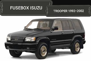 fusebox  ISUZU TROOPER 1992-2002