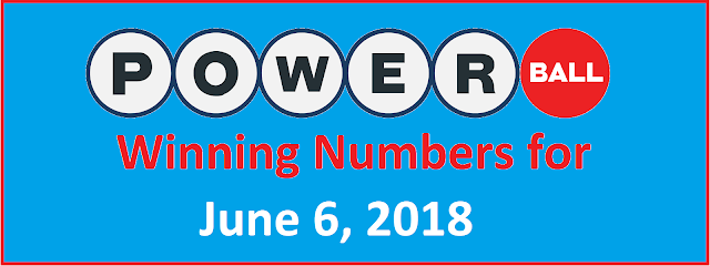PowerBall Winning Numbers for Wednesday, 06 June 2018