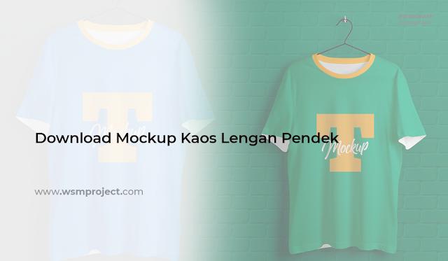 Download Mockup Kaos Lengan Pendek Digantung PSD