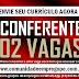 CONFERENTE, 02 VAGAS PARA EMPRESA DE CONSTRUÇÃO CIVIL EM OLINDA