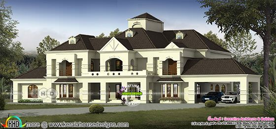Colonial type 9500 sq-ft house plan architecture